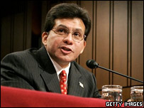 US attorney general nominee Alberto Gonzales