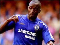 Chelsea midfielder Claude Makelele
