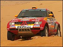 Defending Paris-Dakar champion Stephane Peterhansel