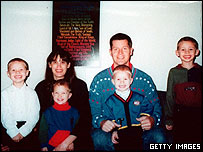 Andrea Yates, her husband, and four of the children she killed