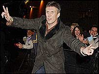 Bez enters the house