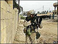 US soldier in Baghdad
