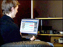 Image of a person using a computer