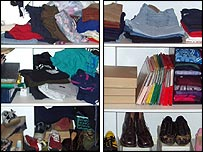 Cupboard before and after a tidy