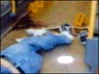 Jean Charles de Menezes' body after he was shot dead. Credit: ITV news