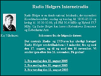 Radio Holger website