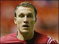 Crewe striker Dean Ashton