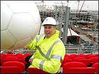 Sir Geoff Hurst at the new stadium