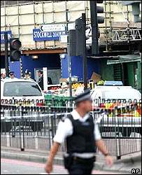 Stockwell Tube station after the shooting