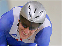 Bradley Wiggins in action on the track