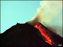 Monte Merapi, en Indonesia.