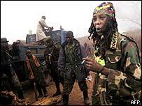 Renegade Congolese soldiers in Kirumba, eastern Democratic Republic of Congo