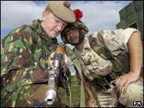 جانب من التدريبات التي تلقاها الجنود العراقيون