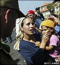Woman and child in Gush Katif settlement