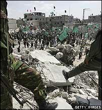 Hamas rally in Gaza
