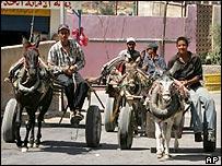 Palestinians in Gaza City