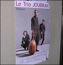 Afiche del trío Joubran.