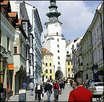 Bratislava street scene