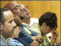 Members of the Otero family listen to testimony given at the sentencing hearing of BTK killer Dennis Rader