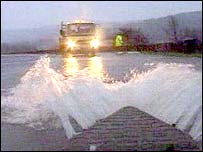 Flooding on the A470