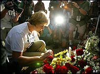 Cindy Sheehan at vigil