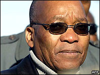 South Africa's former deputy president, Jacob Zuma