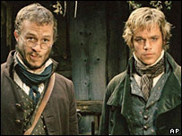 Heath Ledger and Matt Damon (r) in The Brothers Grimm