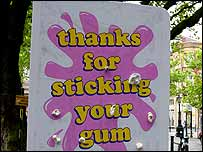 A gum board in Preston, Lancashire