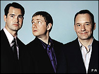 M&S comedian adverts (L-R Jimmy Carr, Martin Freeman, Bob Mortimer)