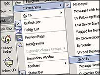 Microsoft's outlook software