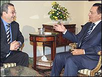 Hosni Mubarak y Ehud Barak