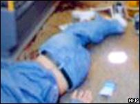 Jean Charles de Menezes lying dead