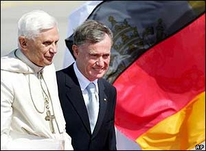Pope Benedict XVI (left) and German President Horst Koehler
