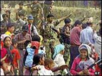 Maoist rebels in rural Nepal