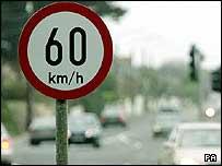 Irish road sign