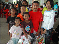 Child survivors of the tsunami at Uttarakij School, in Krabi, Thailand