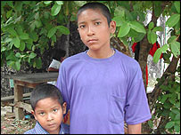 Juran Udom, 14, and his brother, aged seven