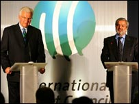 ICC chiefs Malcolm Speed and Ehsan Mani