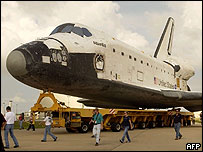 Atlantis at Kennedy Space Center, AFP