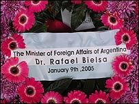 Corona del gobierno argentino
