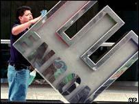 Limpieza del logo de Enron