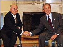 John Howard and George W Bush