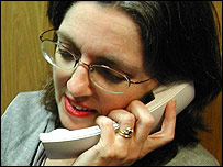 Woman making phone call