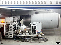 Aircraft being refuelled at Beijing International Airport