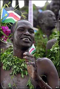 SPLA supporters celebrate in Nairobi