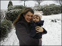 Jessica Starmer and her child