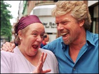 Mo Mowlam with Richard Branson