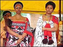 King Mswati's fiancee wearing a tassel (archive pic)