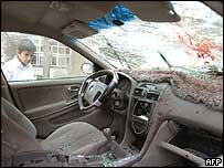 The interior of the vehicle of Brigadier Amer Nayef, after the Baghdad deputy police chief was assassinated on 10 January