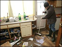 David Maskell in his flooded Carlisle home